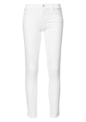 J Brand cropped super skinny jeans - White