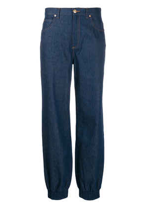 Gucci gathered ankle jeans - Blue