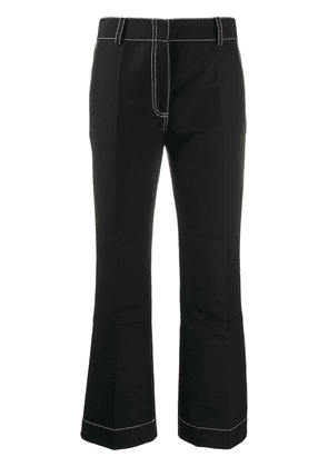 Marni contrast topstitching trousers - Black