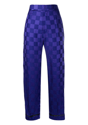 Haider Ackermann geometric print wide-leg trousers - Blue