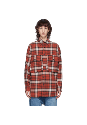 R13 Red Oversized Shirt