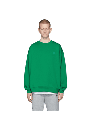 Acne Studios Green Oversized Patch Sweatshirt