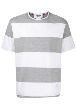 Thom Browne rugby stripes short-sleeved T-shirt - Grey