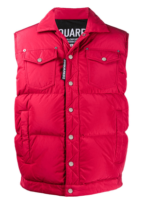 Dsquared2 single-breasted padded gilet