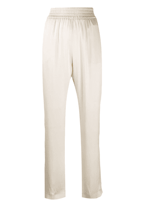 Fabiana Filippi high-rise silk trousers - NEUTRALS