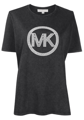 Michael Michael Kors embellished logo crew neck T-Shirt - Black