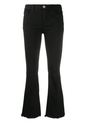 Pinko cropped flared trousers - Black