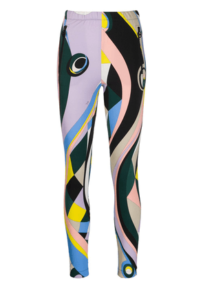 Emilio Pucci abstract print slim-fit track pants - Multicolour