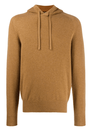 Tom Ford relaxed fit knitted hoodie - Brown