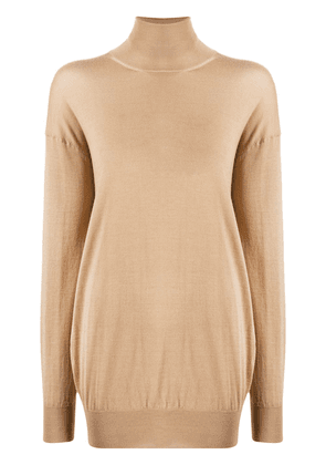 Tom Ford knitted roll neck jumper - NEUTRALS