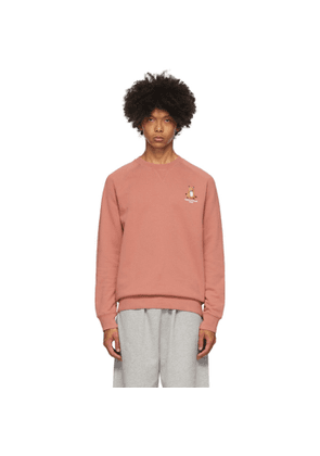Maison Kitsune Red Lotus Fox Sweatshirt