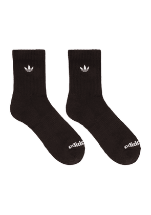 adidas Originals Three-Pack Multicolor Solid Crew Socks