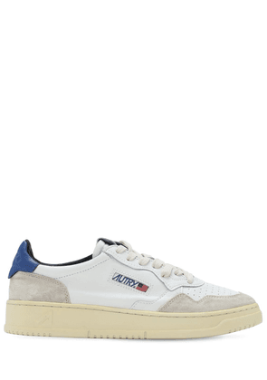 Leather & Suede Low Sneakers
