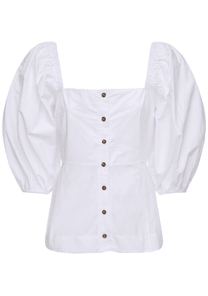 Cotton Poplin Corset Shirt