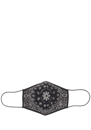 Black Bandana Printed Face Mask