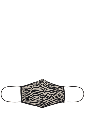 Zebra Printed Face Mask