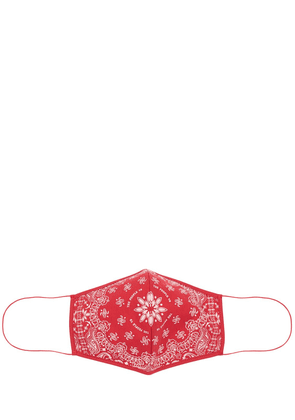 Red Bandana Printed Face Mask