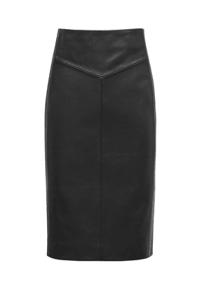 Reiss Megan - Leather Pencil Skirt in Black, Womens, Size 4