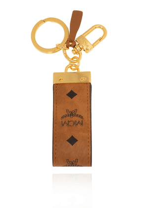 MCM Leather Keyring Unisex Brown