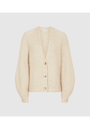 Reiss Olivia - Cotton-blend Short Cardigan in Neutral, Womens, Size XS