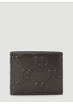 Gucci Perforated-Leather Bi-Fold Wallet in Black size One Size