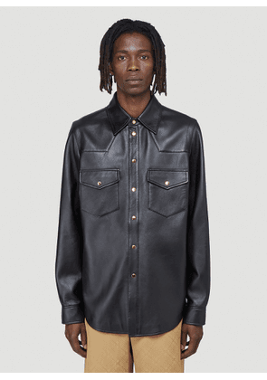 Gucci Leather Shirt in Black size IT - 50