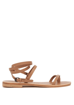 Álvaro - Anna Wraparound Leather Sandals - Womens - Tan
