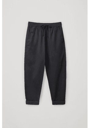 RELAXED COTTON-LINEN PANTS
