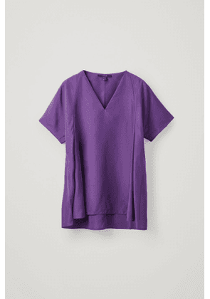 PLEATED MULBERRY SILK TOP