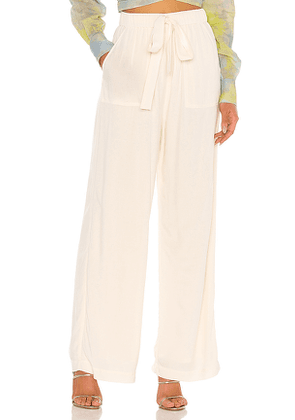 L'Academie The Charline Pant in Ivory. Size XL.