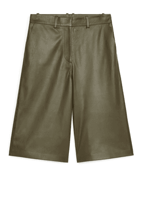 Leather Culottes - Beige