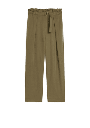 Relaxed Lyocell Trousers - Green