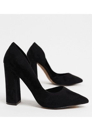 ASOS DESIGN Wide Fit Walter d'orsay high heels in black