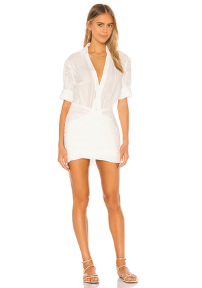 L'Academie The Court Mini Dress in White. Size XS.