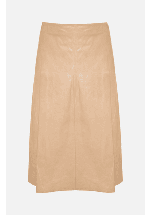 Arma Fairchild Nougat Leather Skirt