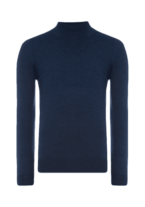 Dark Blue Turtle-Neck Jumper