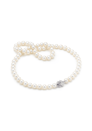 Tiffany Signature® necklace of Akoya cultured pearls with 18k white gold - Size 16 in