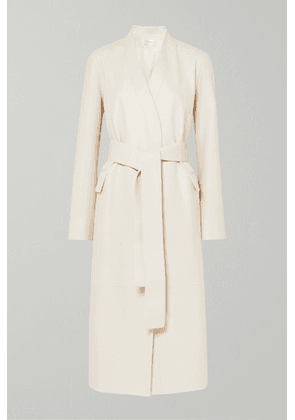 The Row - Jumo Belted Textured-leather Coat - Off-white
