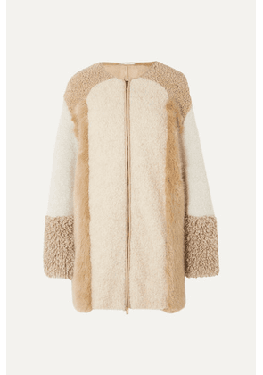 Stella McCartney - Oversized Patchwork Faux Fur And Faux Shearling Coat - Camel