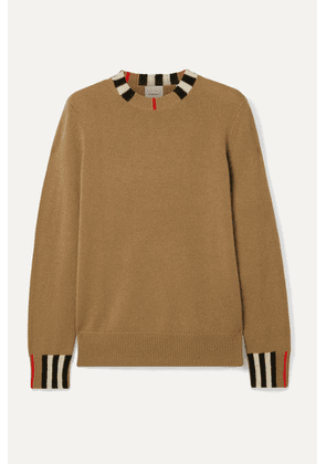 Burberry - Striped Cashmere Sweater - Light brown