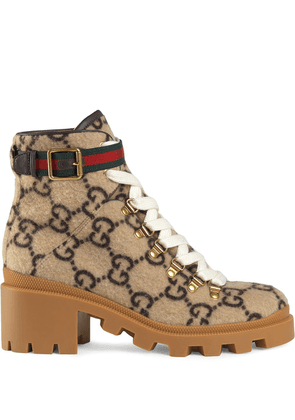 Gucci GG wool ankle boot - NEUTRALS