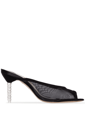 Sophia Webster Simona 85mm mesh mules - Black