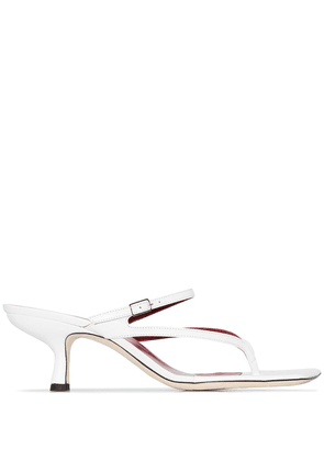 BY FAR white Desiree 55 leather mules