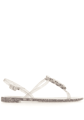 Casadei crystal strap jelly sandals - SILVER