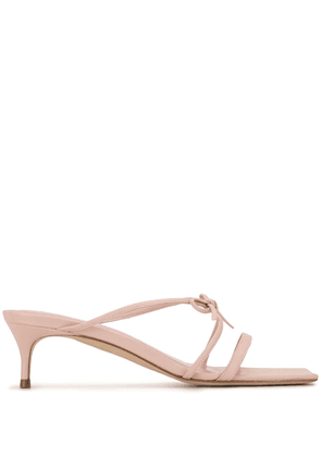 BY FAR January strappy sandals - PINK