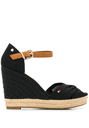Tommy Hilfiger open-toe wedge sandals - Black