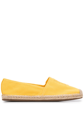 Tommy Hilfiger embroidered logo espadrilles - Yellow