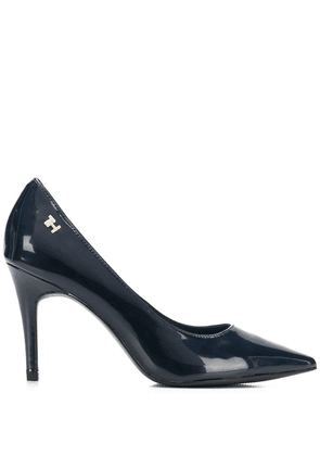 Tommy Hilfiger 95mm patent pumps - Blue