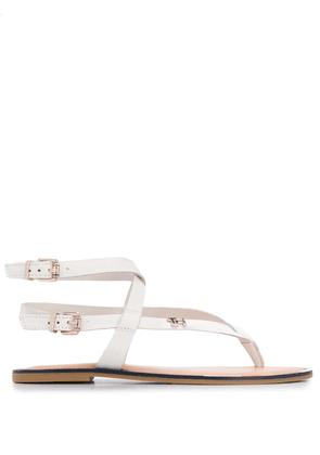 Tommy Hilfiger double buckle sandals - White