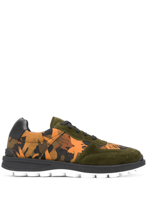 Etro abstract-print panelled sneakers - Green